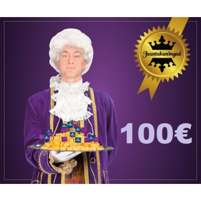 Juustukuningate kinkekaart 100€