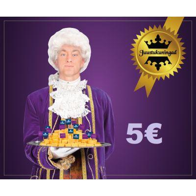 Juustukuningate kinkekaart 5€