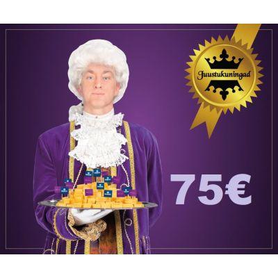 Juustukuningate kinkekaart 75€